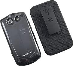 Clear Transparent Hard Case Cover + Nakedcellphone Black Belt Clip Holster for Verizon Kyocera Brigadier E6782