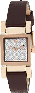 ساعة للنساء من امبوريو ارماني، بلون احمر