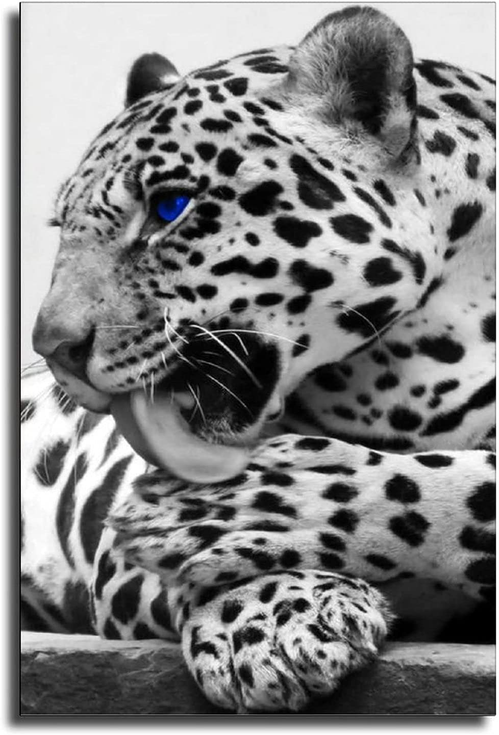 SYZ Blue Eye Black Ranking TOP14 and White Art Wall Office L Branded goods Leopard