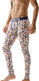 SEOBEAN Mens Low-Rise Underwear Pants Long John Cotton