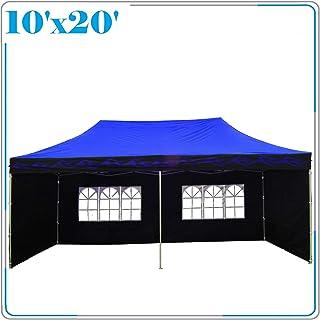DELTA Canopies 10'x20' Pop up Canopy Party Wedding Tent Gazebo EZ Blue Flame - E Model