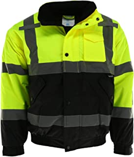 Tuff Grip Men's Fluorescent Water Resistant Jacket with Quilted Lining