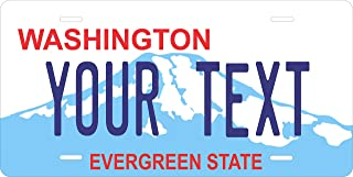 PhotoZoneGa 50 State Personalized Custom Novelty Tag Vehicle Auto Car Bike Bicycle Motorcycle Moped Key Chain License Plate (Washington 1998)