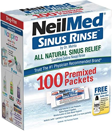 NeilMed Sinus Rinse All Natural Relief Premixed Refill Packets