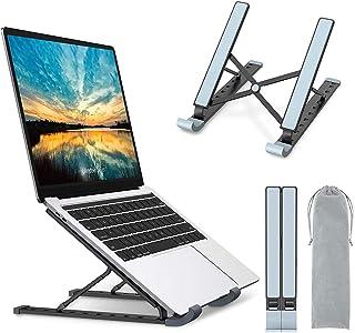Babacom Laptop Ständer, 9-Stufe Aluminium Laptop Stand, Tragbar Höhenverstellbarer Belüfteter Notebook Ständer Kompatibel ...