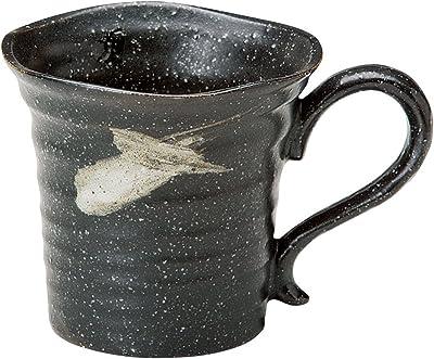 宗峰窯 マグカップ さざ波 黒 φ9.5×9cm(300cc) 758-04-643