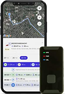 PRIMETRACKING Personal GPS Tracker - Mini, Portable, Track in Real Time - 4G LTE - with SOS Button - Locator Tracking Devi...