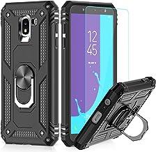 LeYi Custodia Galaxy J6 2018 Cover, 360° Girevole Regolabile Ring Armor Bumper TPU Case Magnetica Supporto Smartphone Silicone Custodie con HD Pellicola per Samsung Galaxy J6 2018 Case Nero