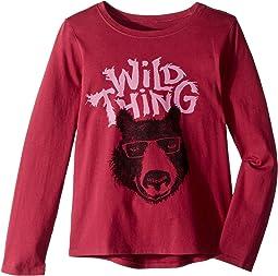 Wild Thing Bear Crusher T-Shirt Long Sleeve (Little Kids/Big Kids)