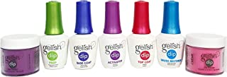 Gelish Dip SNS 2 Dipping Powders + 5 Liquids Nail Kit - Choose Any Color
