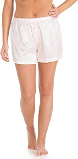 Women's 100% Mulberry Silk Boxer; Sleepwear; Lounge Shorts