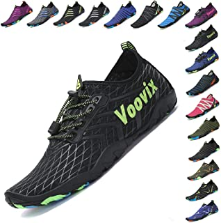 Voovix Womens Mens Water Shoes Quick-Dry Barefoot Aqua Socks Beach Swim Yoga