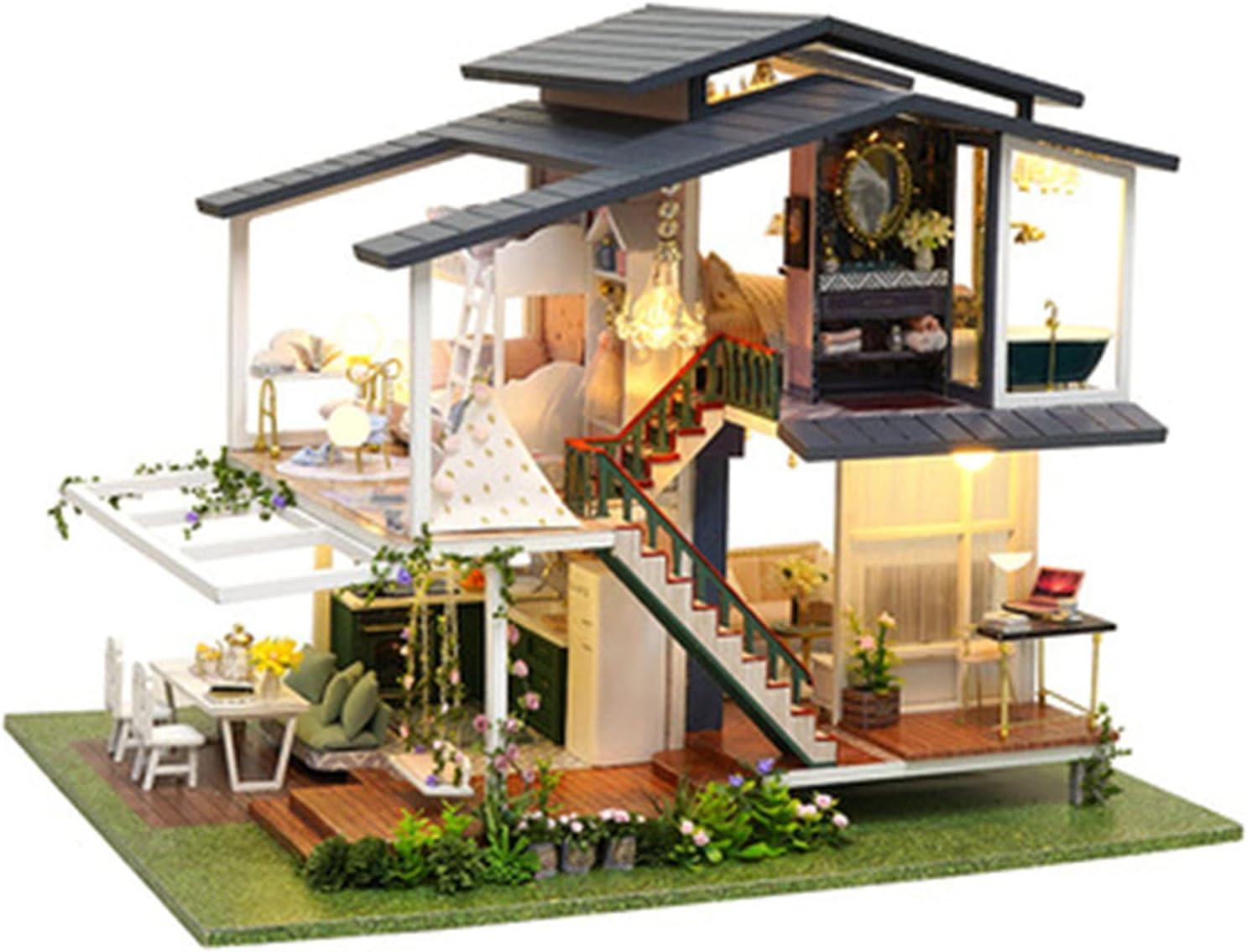 YXLYLL Handmade DIY Cottage Latest item Large Spring new work Assembled Buildin Garden Villa