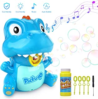 Pickwoo Bubble Machine for Kids Automatic Bubble Blower Indoor & Outdoor Bubble Machine with LED Light and Music, Kids Portable Bubble Maker with Dual Mode, Bubble Blower Toys for Toddlers Boys Girls