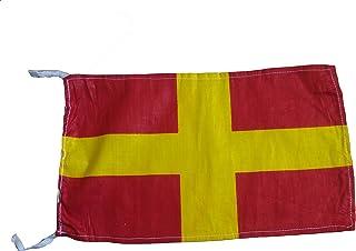 "R - علم رمز الإشارة البحرية الدولي، 100% قطن، 8"" X 13"" - بحري / بحري / قارب (5042)"