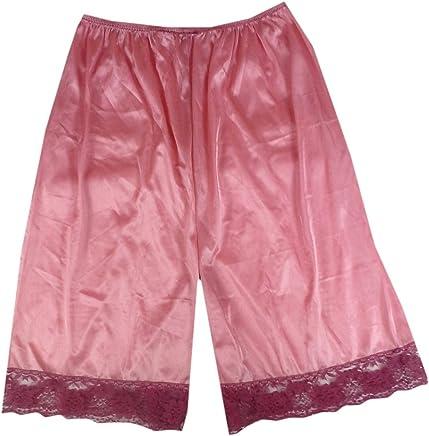 ffde3b1951 PTP13 deep Pink Nylon underworks Pettipants for Women Half Slip Plus Size  Lingerie Intimates