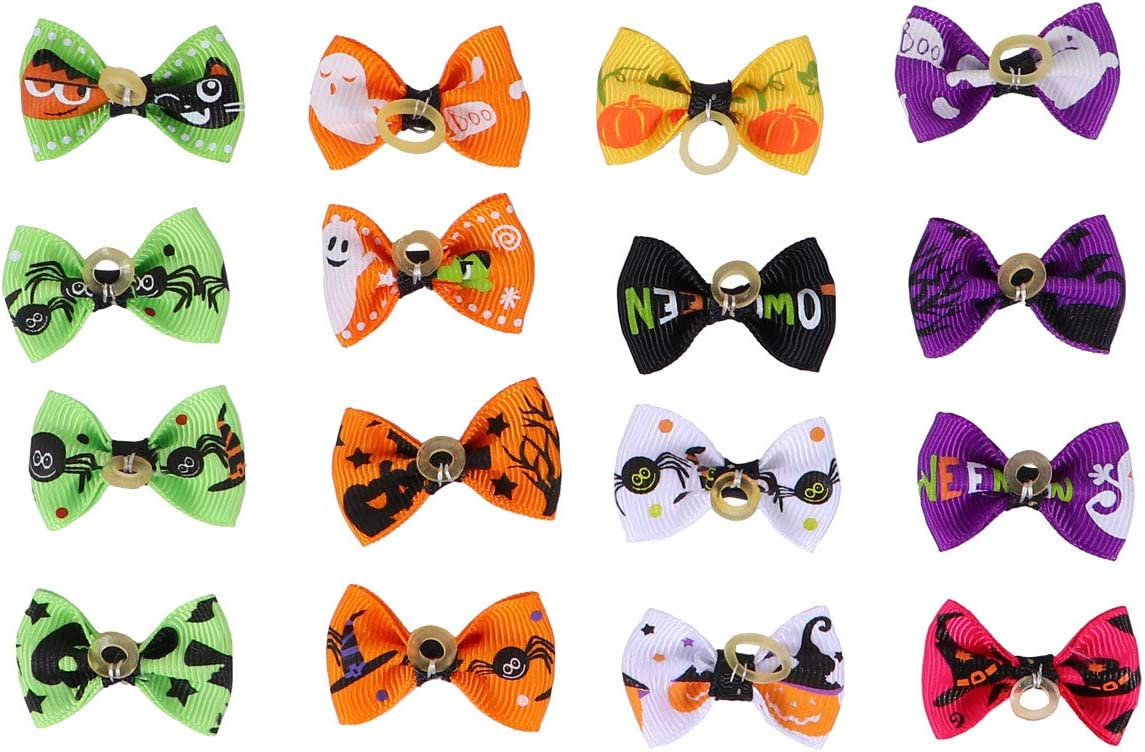 PATKAW Pet Brand new Supplies Must- Have for 16pcs Bowknot Pets Rope Hair Many popular brands