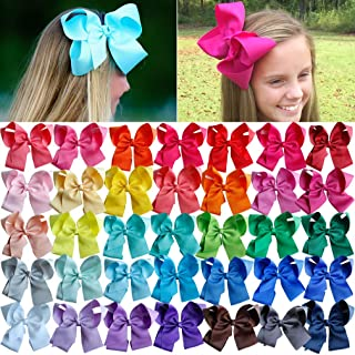 Big Hair Bows Girls Toddler 6 inches 30 PCS Hair Clips for Girls Alligator Baby Ponytail Holder