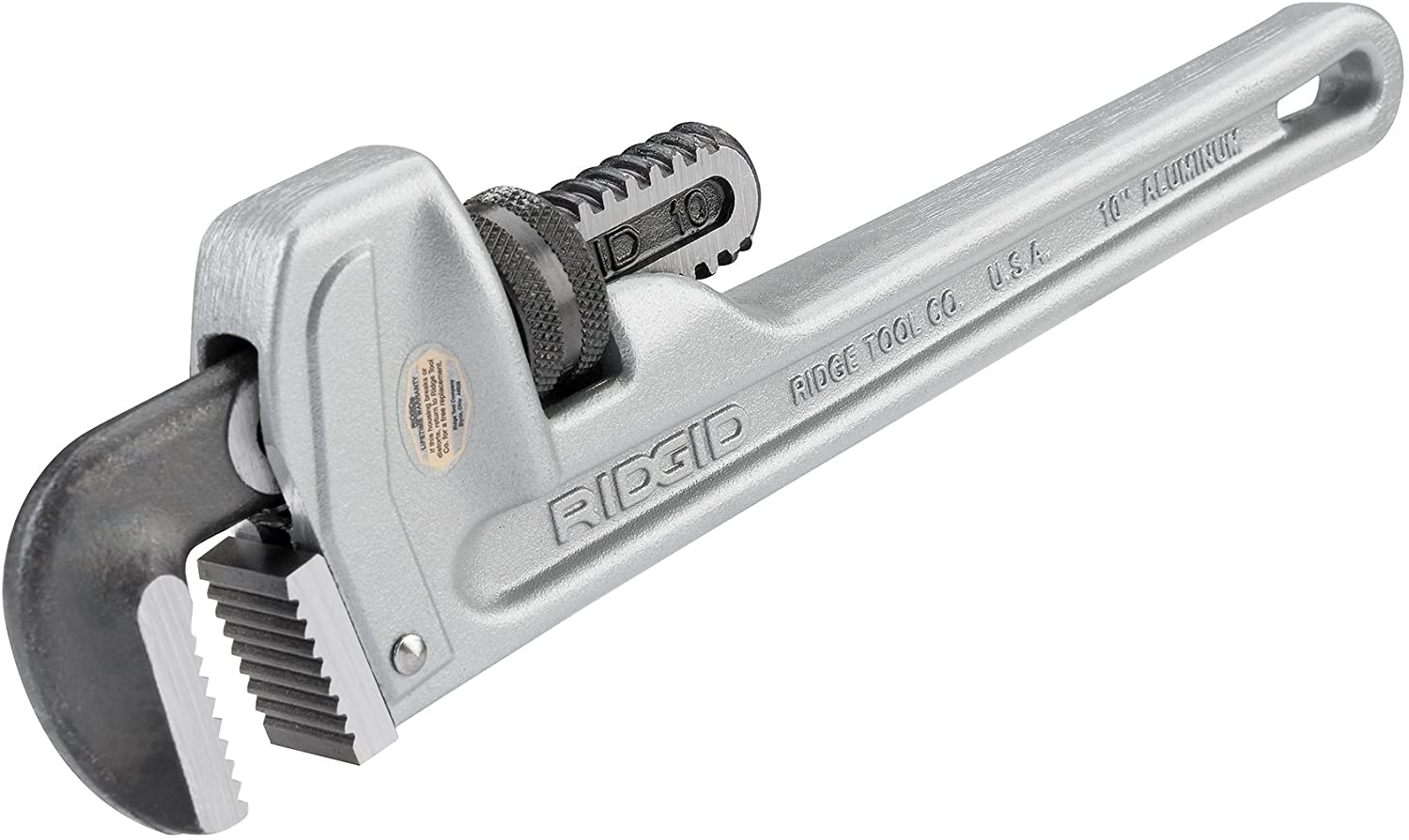RIDGID 31090 Model 810 New color Aluminum Animer and price revision Pl Straight 10-inch Wrench Pipe