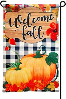 cxwind Happy Fall Garden Flag,Welcome Pumpkin Yard Sign Double-Sided Printing Flag for Autumn Harvest Decorations,Farmhous...