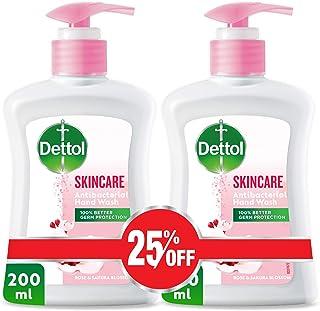 Dettol Skincare Anti-Bacterial Liquid Hand Wash 200ml Twin Pack