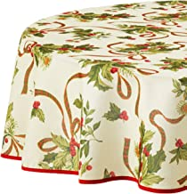 60 Inch Round Christmas Tablecloth
