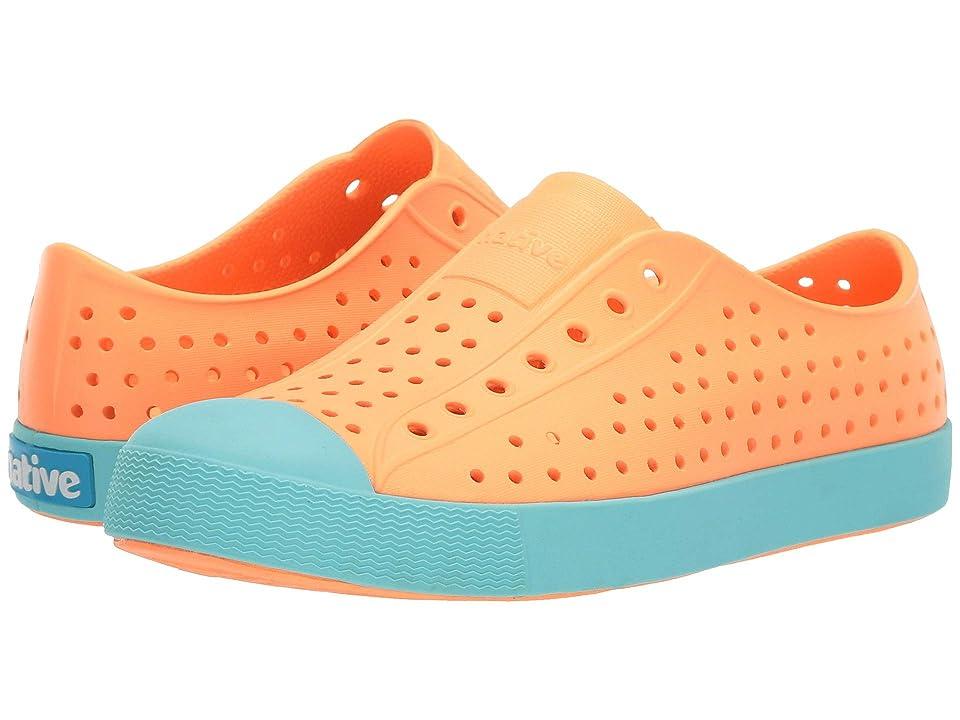 Native Kids Shoes Jefferson (Little Kid/Big Kid) (Lazer Orange/Sherbert Blue) Kid