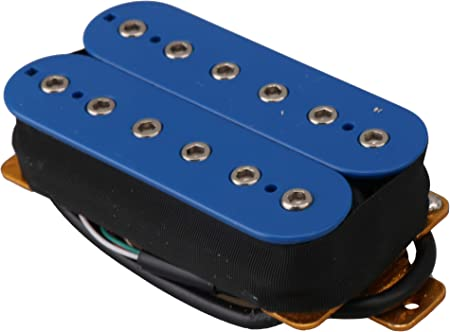 Yibuy 一対 ライトブルー インベーダーハムバッカー 二重コイル 高出力 セラミック磁石付き