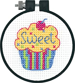Dimensions 72-73599 Cupcakes Learn-a-Craft Counted Cross Stitch Kit, Polyester Blend, Multi-Colour