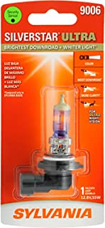 SYLVANIA - 9006 SilverStar Ultra - High Performance Halogen Headlight Bulb, High Beam, Low Beam and Fog Replacement Bulb, Brightest Downroad with Whiter Light, Tri-Band Technology (Contains 1 Bulb)