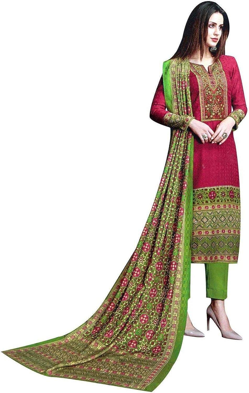 Ladyline Pure Lawn Cotton Print & Embroidery Salwar Kameez Suit Indian Pakistani Suit Ready to wear