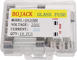 BOJACK 6x30mm 20A 20amp 250V 0.24x1.18 Inch F20AL250V Fast-Blow Glass Fuses(Pack of 18 Pcs)