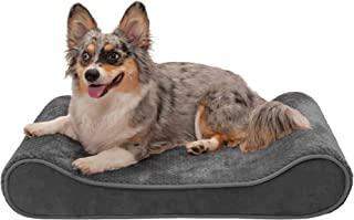 Furhaven Pet Dog Bed - Cooling Gel Foam Minky Plush and Velvet Ergonomic Luxe Lounger Cradle Mattress Contour Pet Bed with...