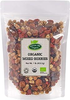 Organic Mixed Berries (Golden Berries, Mulberries, Cranberries, Goji Berries) 1lb by Hatton Hill Organic