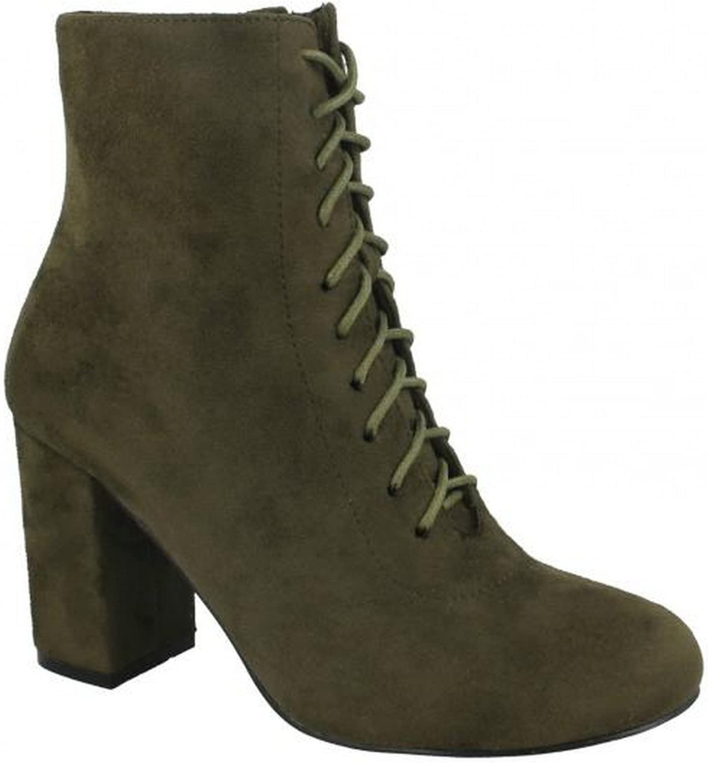 Spot On Womens Ladies Lace Up Ankle Boots