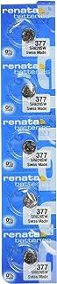 Renata 377 SR626SW SR626 AG4 LR626 Silver Oxide Mercury Free Electronic Batteries x 5