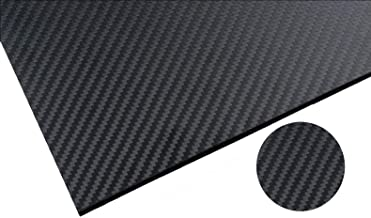 RacingCarbon 500X400X3.0MM 100% 3K Full Carbon Fiber Sheet - 3mm Thick - Twill Weave Matte Surface