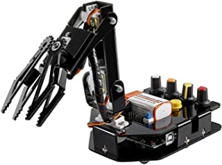 SUNFOUNDER Robot Arm 4-Axis Servo Control 180 Degree Rotation Programmable Robot Toy Kit for Kids and Adults