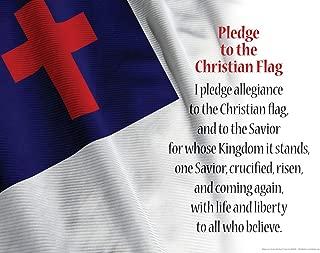 christian flag and bible pledge