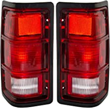 Taillights Tail Lamps with Black Bezels Driver and Passenger Replacements for Dodge Pickup Truck SUV 55076439 55076438