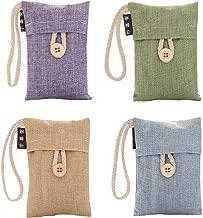 Bamboo Charcoal Air Purifying Bag (4 Pack), Natural Air Freshener Bags, Activated Charcoal Odor Eliminators, Car Air Purifier, Closet Freshener, Home Air Freshener, Charcoal Bags