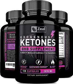 Exogenous Ketones BHB Keto Pills (2870mg | 120 Capsules) Keto Diet Pills w.