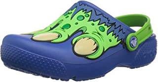 Crocs Unisex-child Kids Calssic Clogs Slip On Sandal, Color Blue Jean/Green, Size 21 EU