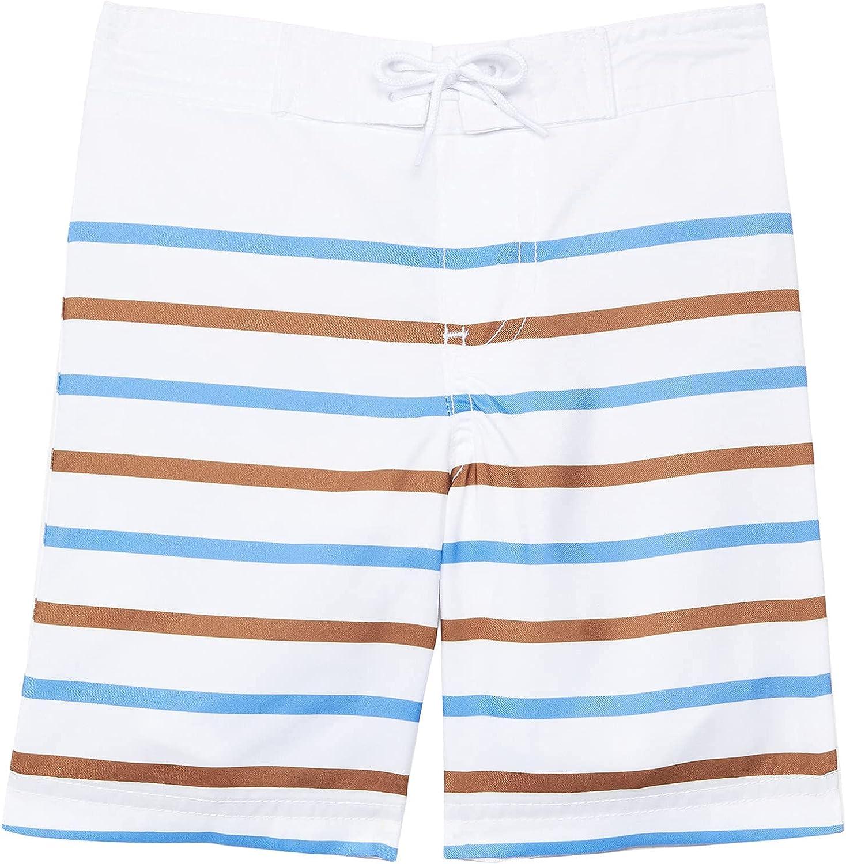 Janie and Jack Boy's Stripe Swim Shorts (Toddler/Little Kids/Big Kids)