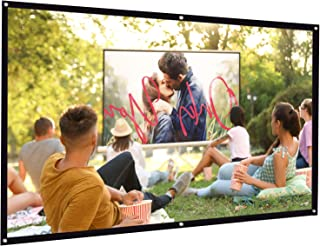 Bomaker Projector Screen, 100 inch Projection Screen 16:9 HD Foldable Anti-Crease Portable Washable Projector Screen, Idea...