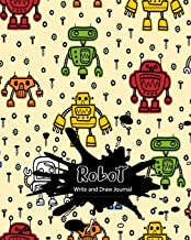 Robot Write and Draw Journal: Primary Journal Grades K-2  Dotted Midline and Picture Space for Preschoolers and Kindergarten