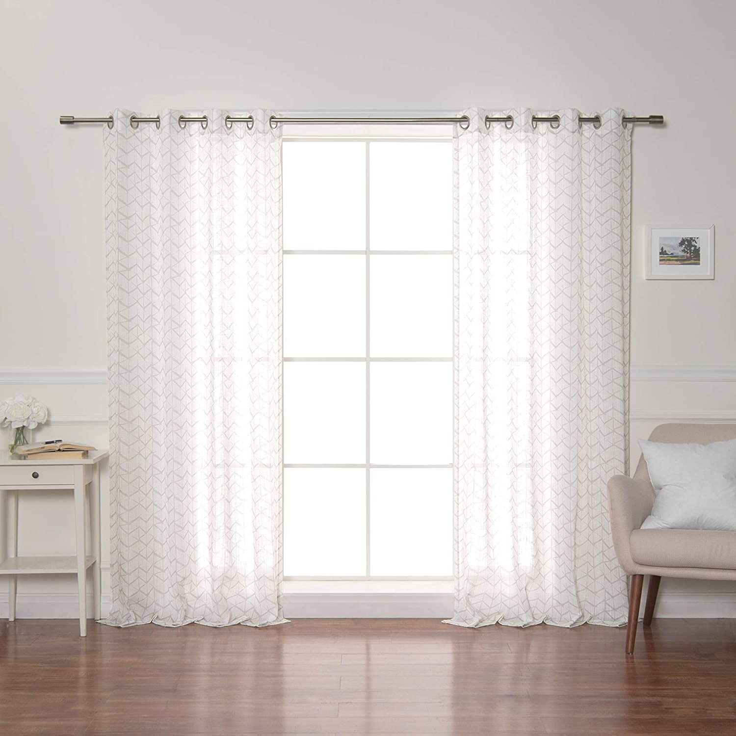 Best Home Fashion Opaque Cube - 2020春夏新作 Curtains Steel 特価品コーナー☆ Grommets Silver