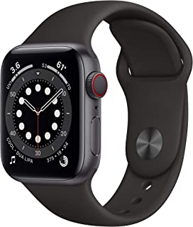 New AppleWatch Series 6 (GPS + Cellular, 40mm) - Space Gray Aluminum Case with Black Sport Band
