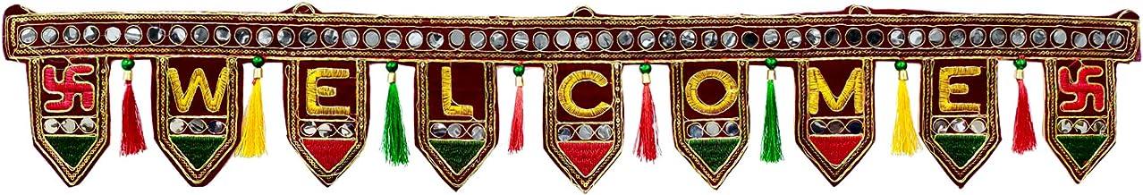 Crafts'man Beaded Toran/Door Valance – Diwali Decorations Hanging Door Valance..