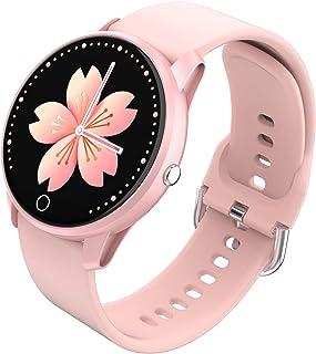 BIGCHINAMALL Relojes Inteligentes Pulsera Actividad Smartwatch Mujer (Pink)